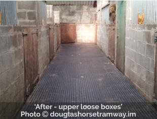 'After - upper loose boxes' Photo  douglashorsetramway.im